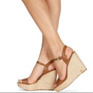Michael Kors Jill Espadrille Wedge Sandals.